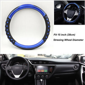 Car Steering Wheel Cover For Woman Girl 38cm 15 Cystal Diamond Cover Pu Leather