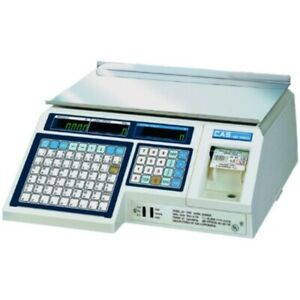 Cas Lp 1000n Label Printing Scale Legal For Trade 30 X 0 01 Lb With A Free 1