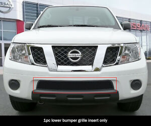 Fits 2009 2020 Nissan Frontier Bumper Stainless Steel Black Mesh Grille Insert
