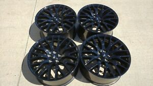 4 19 Ford Mustang Gt Black Wheels Rims Factory Oem 2015 2019 10036 10038
