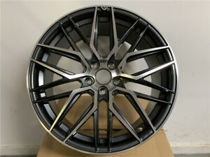 19x8 5 Dark Gunmetal Vf Style Rims Wheels Fits Acura Tl Tsx Lexus Is250 Is300