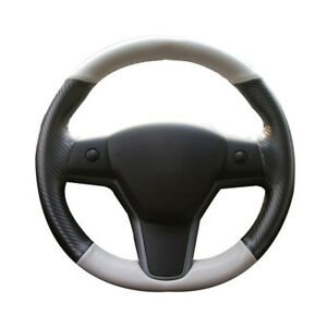 Leather Carbon Fiber Steering Wheel Cover Replacement Accessory Parts