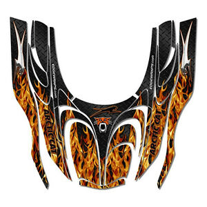 Arctic Cat Zr 600 500 800 Mountain Cat Wrap Decals Sticker Kit Real Fire