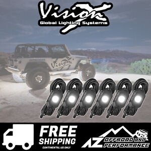 Vision X White Led Xp Rock Lights Set Of 6 54w 9929415