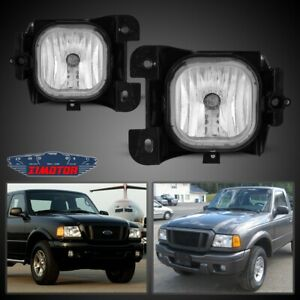 04 05 Fit Ford Ranger Clear Lens Pair Bumper Fog Light Lamp Oe Replacement Dot