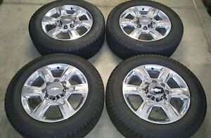 20 Inch Chevy Gmc Factory Oem Wheels And Tires Hd 2500 3500 Truck 8 Lug 8x180