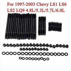 For 1997 2003 Chevy Ls1 Ls6 Ls2 Lq9 Cylinder Head Stud Kit 4 8l 5 3l 5 7l 6 0l