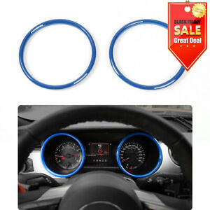 Abs Blue Interior Dashboard Ring Cover Trim Decoration For Ford Mustang 2015