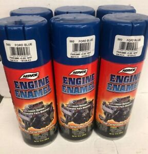 Aervoe Engine Enamel High Heat Paint 560 Ford Blue 1 Case Of 6 12 Oz Cans