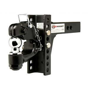 Onemount Pintle Hook And 2 Inch Ball Combo With Adjustable Shank Ae 10010
