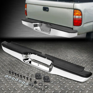 For 95 04 Toyota Tacoma Chrome Finishi Stainless Steel Rear Step Bumper Face Bar