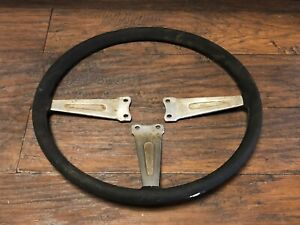 Vintage Split Hub 3 Spoke Mg Steering Wheel Midget Porsche Vw Car Automobile
