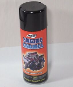 Aervoe Engine Enamel Paint 514 Gloss Black 12oz Can