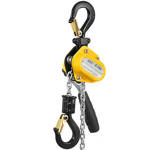 0 75t 1 5m Lever Block Chain Hoist Puller Hand Pull Solid Grips