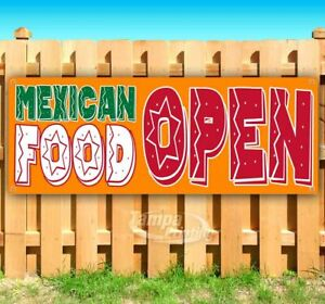 Mexican Food Open Advertising Vinyl Banner Flag Sign Many Sizes Available Usa
