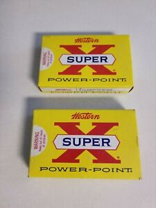 Vintage Western 7mm Mag  Power Point Super X Ammo Box Lot of 2 Empty Box Only