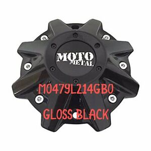 Moto Metal Mo479l214gbo Gloss Black Single Mo970 Center Cap W Screws Allen Tool