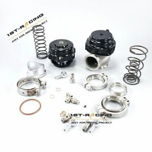 50mm Bov 44mm Wastegate Combo Turbo Blow Off Valve Bov Q 50 Waste Gate Black New