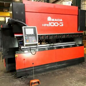 Amada Hfe 1003 7 110 Ton X 122 Cnc Press Brake