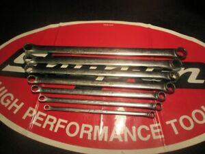 Snap on Tools 7 Pc 12 point Flank Drive Standard Handle 15 Offset Box Wrench