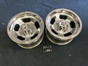 Vintage Style Polished 15x8 1 2 Newer Us Indy Mags 5 On 5 1 2 Ford Pickup 4x4