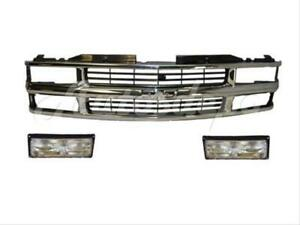 For 1992 1999 Chevy Suburban Tahoe Yukon Chrome Grille With Signal Light Set 3ps
