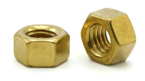 Brass Hex Nuts Standard Brass Hex Finished Nuts 1 4 Through 1