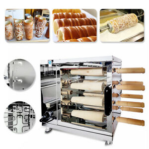 Commercial Auto Electric Toaster Chimney Cake Oven Roll Grill Machine Heavy Duty