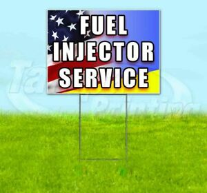 Fuel Injector Service Yard Sign Corrugated Plastic Bandit Lawn Decoration Usa