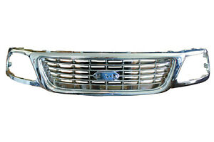 New Fits 99 03 1999 2000 2001 2002 2003 Ford F150 All Chrome Grille