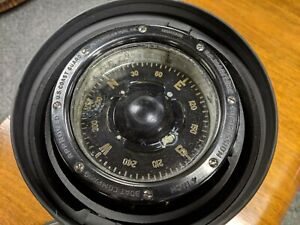 Vintage Ships Boat Binnacle Compass W M Welch Model 2 Chicago 4 Coast Guard
