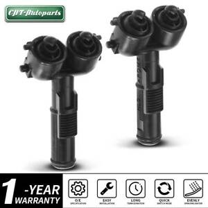 2x Headlight Washer Nozzle Front Left Right For Volkswagen Touareg 2007 2010
