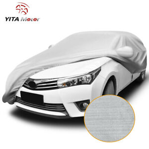 Yitamotor Breathable Universal Car Cover Auto Protection Fits Sedan Up To 192
