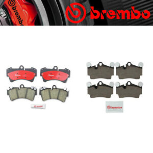 Front Rear Brembo Brake Pads Set For 2007 2015 Audi Q7 Porsche Cayenne