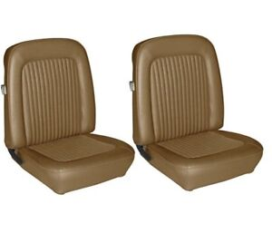 1968 Mustang Front Bucket Seat Upholstery Nugget Gold By Tmi In Stock