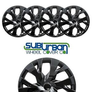 2018 2019 Toyota Yaris Style 533 15blk 15 Gloss Black Hubcaps Low Cost Set 4