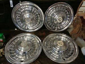 1959 Cadillac Wheel Covers Hubcaps Vintage Originals Set Of 4
