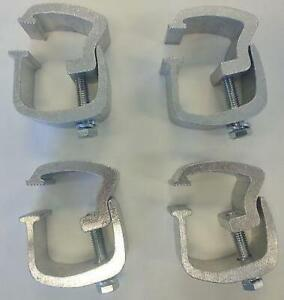 Api 4 Low Profile Rocker Style Truck Cap Topper Mounting Clamps Ac101