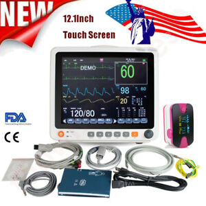 12 1 tft Color 6 para Patient Monitor Vital Signs Cardiac Touch Screen gift Usa