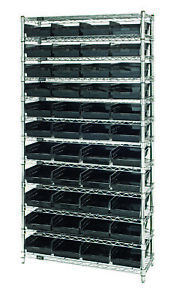 Wire Shelving Unit W 44 Conductive Bins 1 Ea