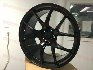 Staggered 20 F Style Rims Wheels Fits Honda Accord Civic Gloss Black