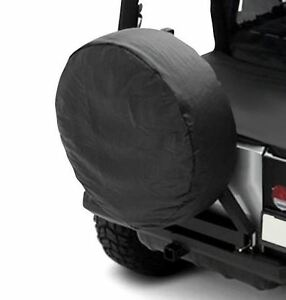 Smittybilt Rear Spare Tire Cover For Jeep Wrangler Yj Tj Jk Black Diamond 27 29