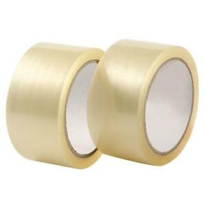 24 Roll 2 7 Mils 60 Yard 180ft Clear Carton Sealing Packing Shipping Tape