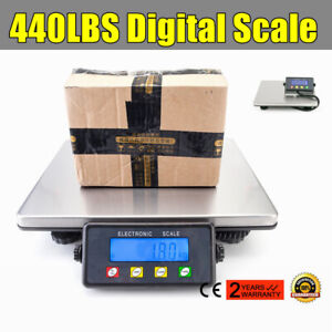 Professional Digital Shipping Scale Postal Scale 440 Lbs Capacity W Adapter