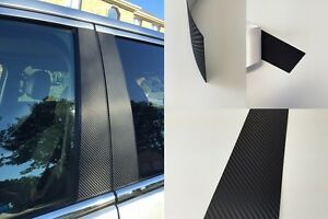 Fits Kia Soul 2015 2018 Vinyl Black Carbon Fiber Pillar Posts Trim