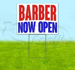 Barber Now Open Yard Sign Corrugated Plastic Bandit Lawn Decorations