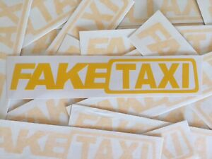 Funny 2pcs Fake Taxi Car Auto Sticker Faketaxi Decal No Background