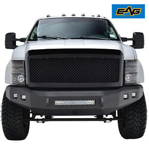 Eag Replacement Grille Upper Full Mesh Grill Fit 08 10 Ford F250 Matte Black
