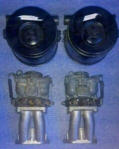 Zenith Carburetors With Intake Manifolds Air Cleaners used