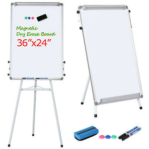 Adjustable Tripod Magnetic Writing Whiteboard Dry Erase Board W eraser White